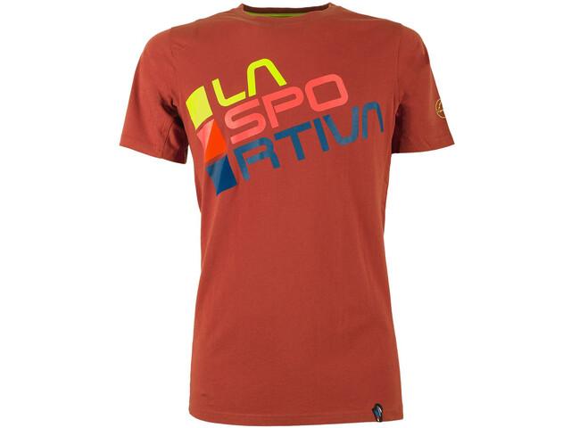 La Sportiva Square T-Shirt Herren brick/sulphur